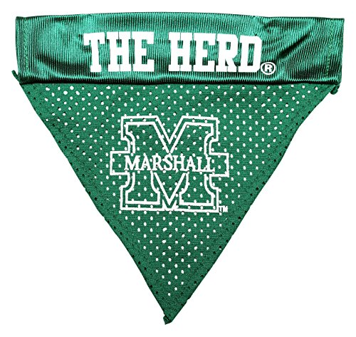 Pet Goods NCAA Marshall Thundering Herd Collar Bandana, One Size
