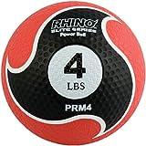 Champion Sports Rhino Elite Medicine Ball, Black Handle, 16-Feet