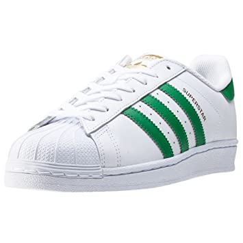 free shipping 212c8 fedda adidas Superstar Foundation - ftwwht/green/goldmt
