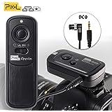 PIXEL 2.4GHz 16チャンネル コンパクトラジオ電波式 カメラ ワイヤレス レリーズ シャッター リモコンNiKon D800 D810 D700 D500 D300s D200 Z6 Z7 D750 D7500 D5500 D600 D3200 D1シリーズ D2シリーズ D3S D4 D5 N90S F6 F100 F90 FUJIFILM S5Pro S3Pro D3X KODAK DCS-14Nに対応 カメラ用 リモートコントローラー Remote Cord MC-30A/MC-DC2