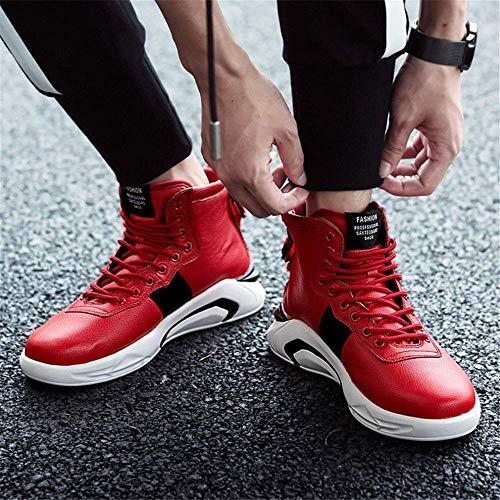 Autunno Uomo Leggere Viaggi Passeggio Arrampicata Scarpe Inverno Corsa Comfort Da Zj Sneakers Casual Rosso Ginnastica Alte WgnRHUq
