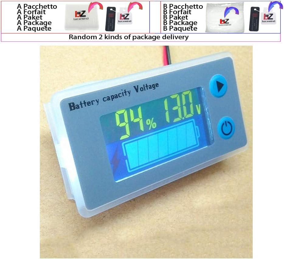 Digital Voltmeter Voltage Tester Monitor Universal LCD Car Capacity Indicator JS-C33 10-100V