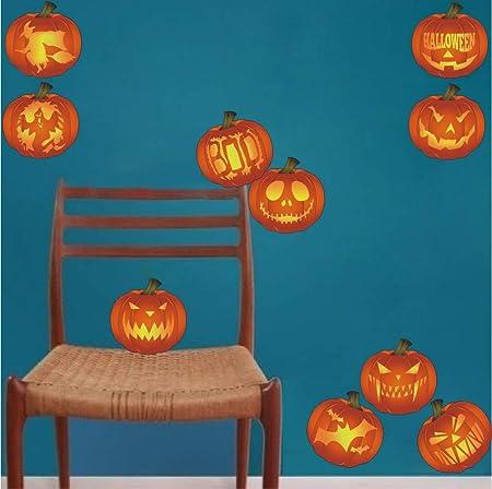Halloween Theme 3D Pumpkin Ghost Wall Stickers Window Door Stickers Party Decors