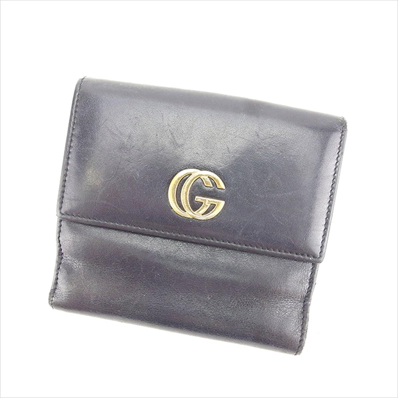 グッチ GUCCI Wホック財布 二つ折り財布 ダブルG 中古 Y5457 B0772V5L1D