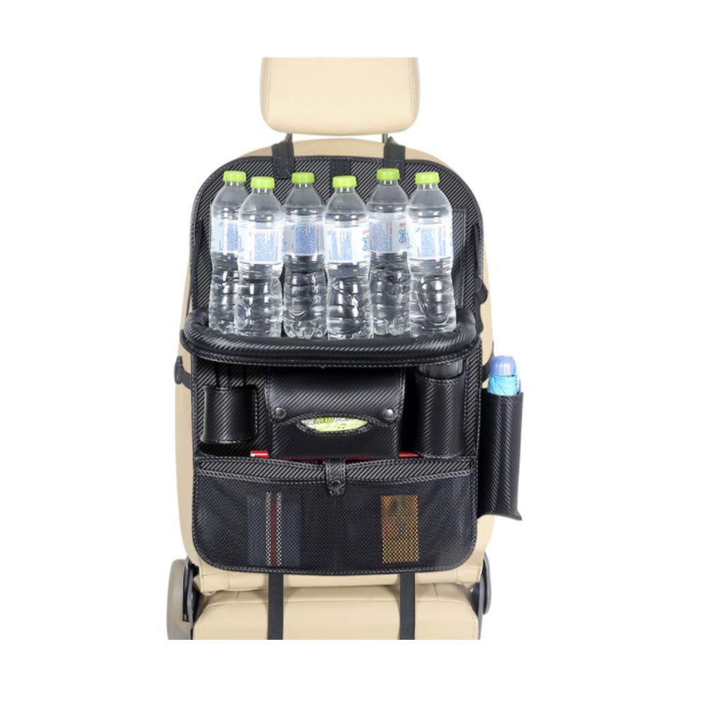 G-TASTE Organizador de asientos traseros para autom/óvil Organizador de m/últiples funciones para almacenamiento de asientos traseros Protector para el asiento trasero del autom/óvil bandeja-1 paquete