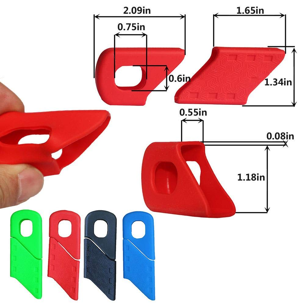 Universal 4 Pcs Bicycle Crank Boots Dust Proof Cover for SRAM//Shimano//FSA//RACEFACE//PROWHEEL Crank MTB Mountain Bike Crankset Caps Protector Volwco Bicycle Crank Cover