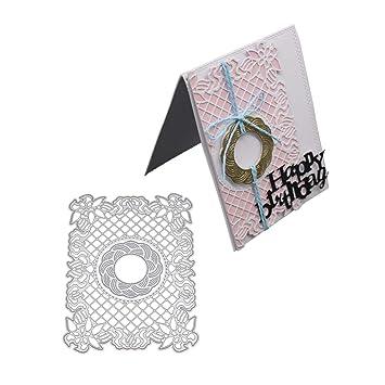 LanLan Plantilla de Corte de artesanía, Corte Plantilla, Plantilla de Metal Molde para Scrapbook, Recortes de Bricolaje Tarjeta de Papel Artesanal: ...