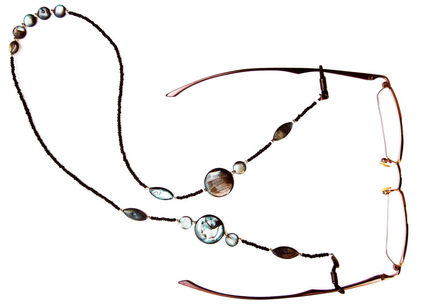 Silk Rose Women's Eyeglasses Fashion Chain and Badge Holder for IDs and Cards