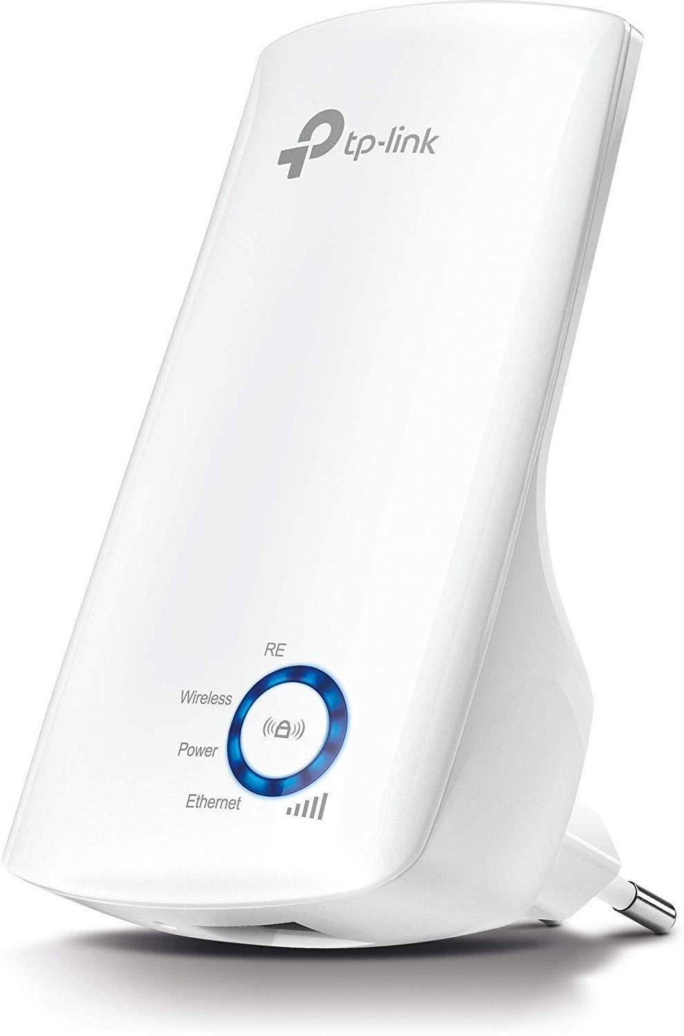 TP-Link TL-WA850RE - Repetidor de red Wifi extensor amplificador de cobertura(Puerto Ethernet,10/100 mbps, con enchufe, 300 Mbps, 2.4 GHz), Blanco