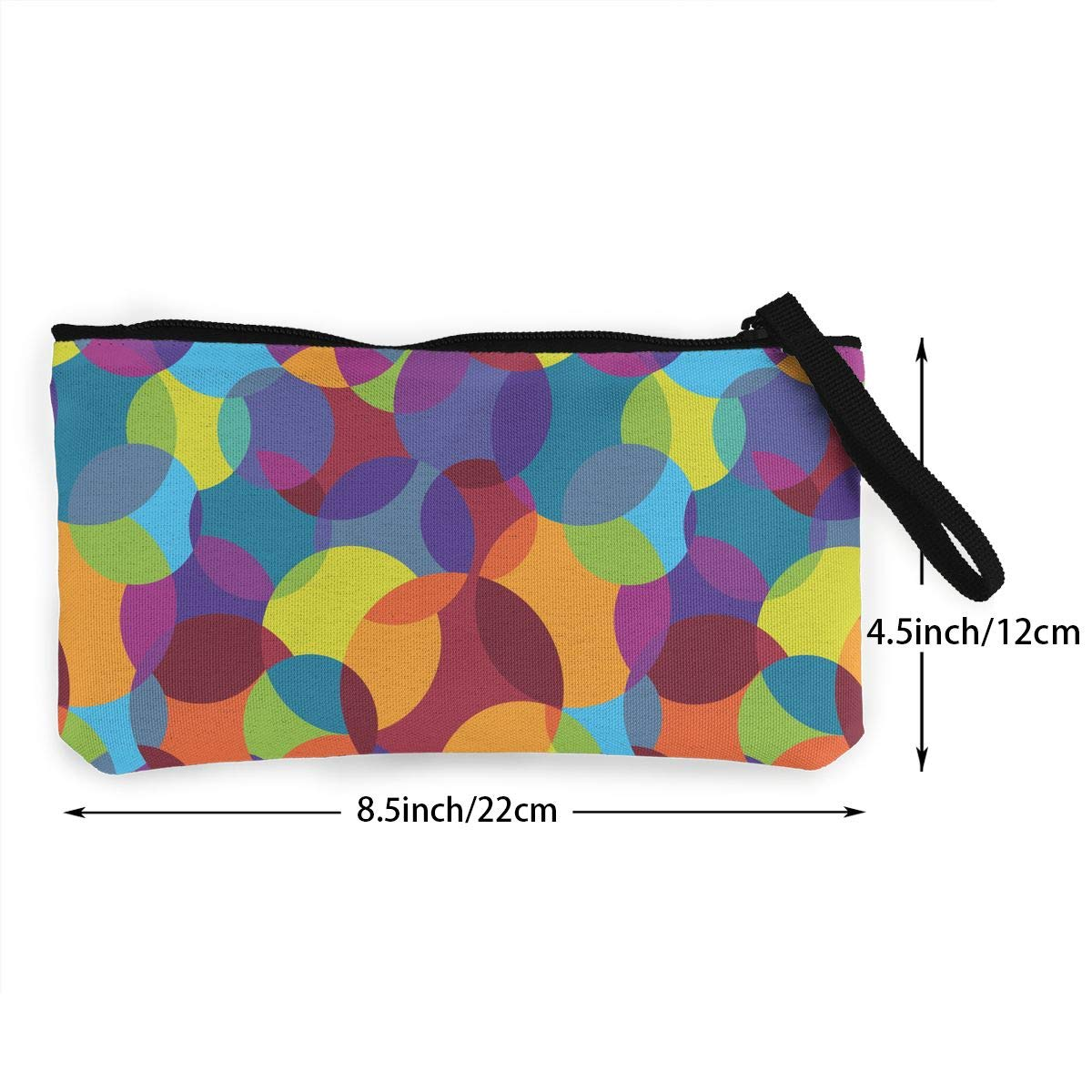 Abstract Colorful Pattern Canvas Card Wallet with Zipper for Women Bk55Oi/&/& Womens Retro Purse