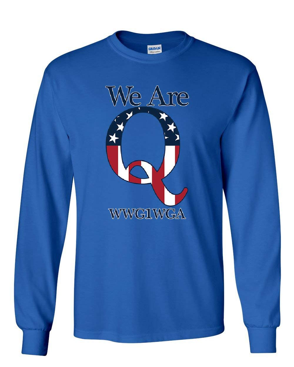 We Are Q WWG1WGA Long Sleeve T-Shirt Stars And Stripes...