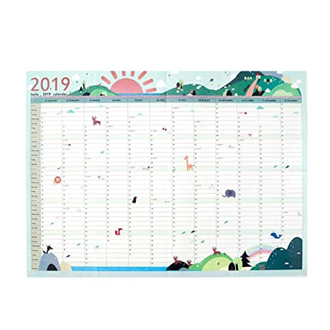 365 days Office School Daily Planner Wall Calendar Students Study Schedule