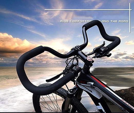 JIKLLSJID Mariposa Mariposa Manillar de la Bicicleta Manillar 31.8, Barra de la Bici de la manija con la Esponja de Espuma Tubo Grips aleación de Aluminio de Bicicletas apretones de Manillar: Amazon.es: