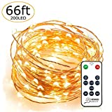 LED String Lights, Venhoo Dimmable 66ft 200 LEDs Copper Wire Starry Lights ...