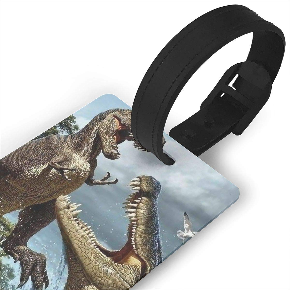 Dinosaur Baggage Tag For Travel Tags Accessories 2 Pack Luggage Tags