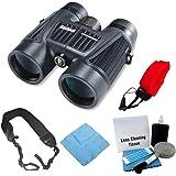 Bushnell 150142 H20 Waterproof 10X42 Black Binoculars RP BAK-4 WP/FP Twist Up Eyecups + Zeikos Wide Strap + Accessory Kit