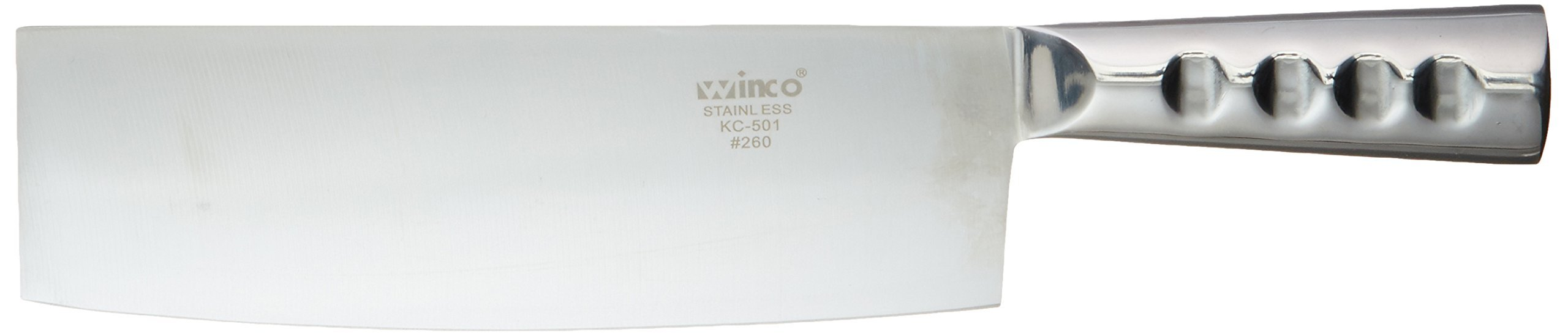 Winco KC-501 Chinese Cleaver with Steel Handle and 8-Inch by 2.25-Inch Blade by Winco