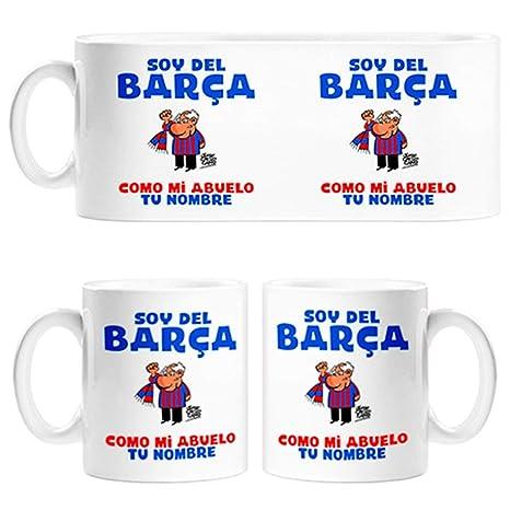 Taza soy del Barça como mi abuelo personalizable con nombre - Cerámica