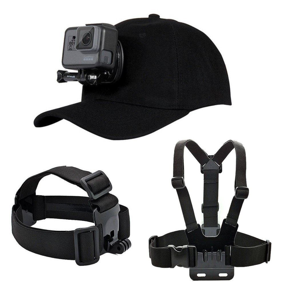 Makit Accessories Kit for GoPro Hero 6/GoPro Hero 5 with Baseball Hat/Head Strap/Chest Strap