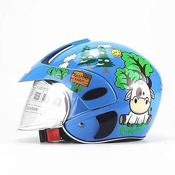 XBDOT Niños Motos Cascos De Seguridad Niños Motos Sombreros Ligeros Infantiles Invierno A Prueba De Viento