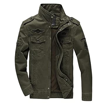 : Men Jacket Jean Military Pl6Xl Army Soldier