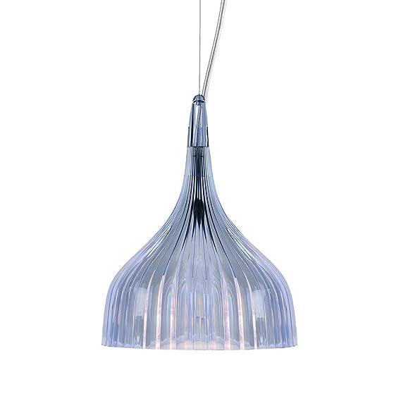 Kartell E Lámpara E14, Azul Claro Transparente, 13.5 x 14.5 x 13.5 cm: Amazon.es: Iluminación