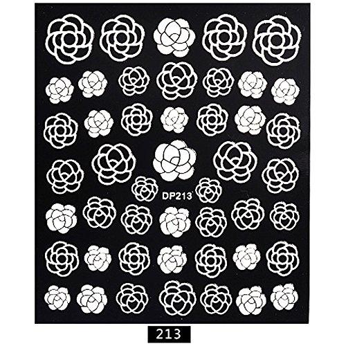 Metal Nail Art,1 Sheet Embossed 3D Nail Art Stickers Blooming Flower Decals Tips Decoration DIY,Nail sequins,Nail bag,Nail Art Equipment