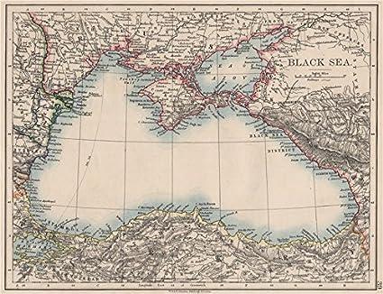 Amazon Com Black Sea Russia Turkey Crimea Romania Bulgaria Kutais