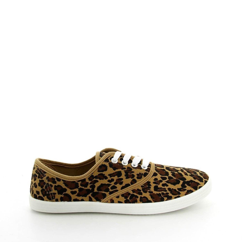 La Modeuse - Zapatillas de deporte para mujer, multicolor (leopardo), 40