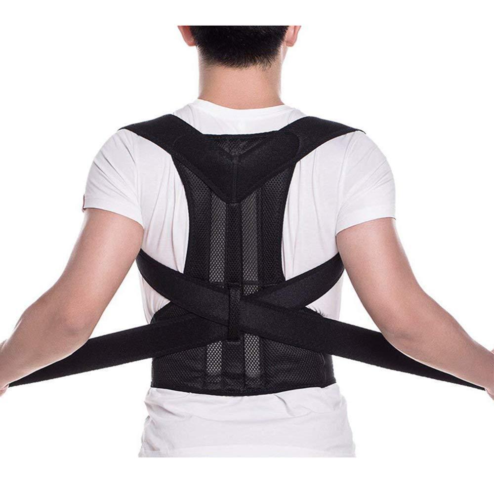 Back Brace Posture Corrector - Back Support Belt with Fully Adjustable Straps Relief Lower & Upper Back Pain, Improve Posture & Provides Lumbar Support - Fit for Men & Women (S)