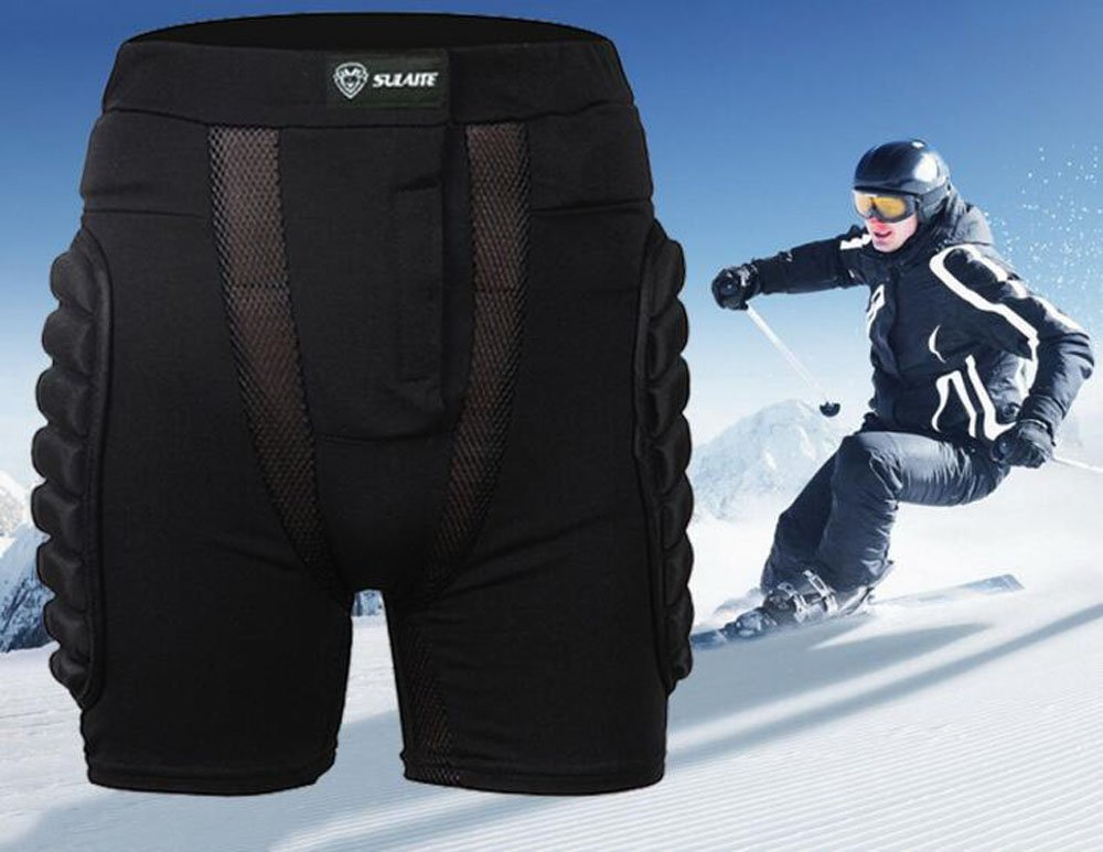 3D EVA Impact Short Protective Hip Butt Paded Pants For Adult & Child Skating Skiing Ski Skate Snowboard Protection (M)