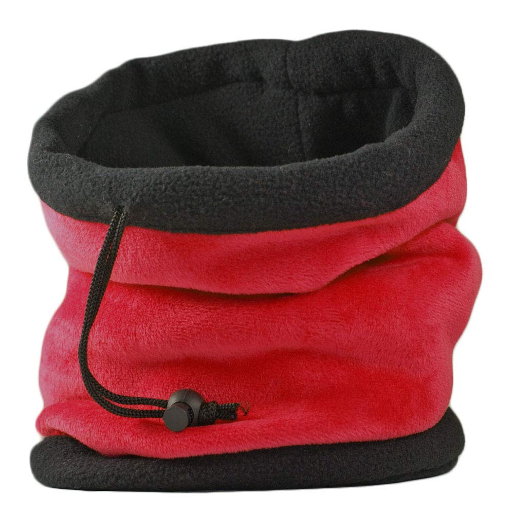 UNISEX MENS LADIES SUPER SOFT NECK WARMER GAITER HAT FOR SKI, HIKING HIKING-BLACK