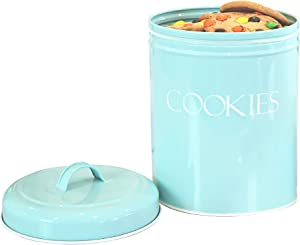 Outshine Mint Vintage Farmhouse Cookie Jar | Airtight Food Storage Container with Lid for Cookies, Biscuits, Baked Treats, Snacks | Gift for Housewarming, Birthday, Wedding, Christmas