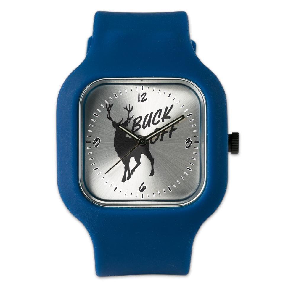 Navy Blue Fashion Sport Watch Buck Off Deer Hunter Hunting