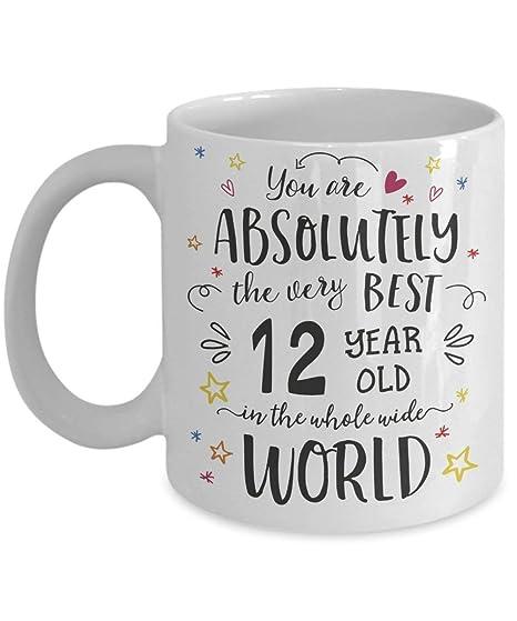 Amazon.com: Taza de regalo de 12 cumpleaños – 12 años de ...