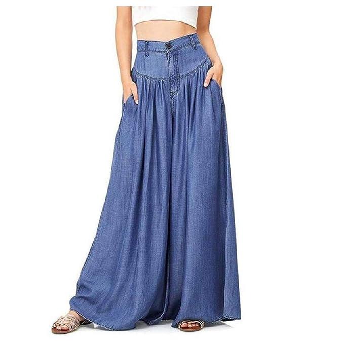 Doufine - Pantalones de chándal para Mujer (Pierna Ancha, Holgados ...