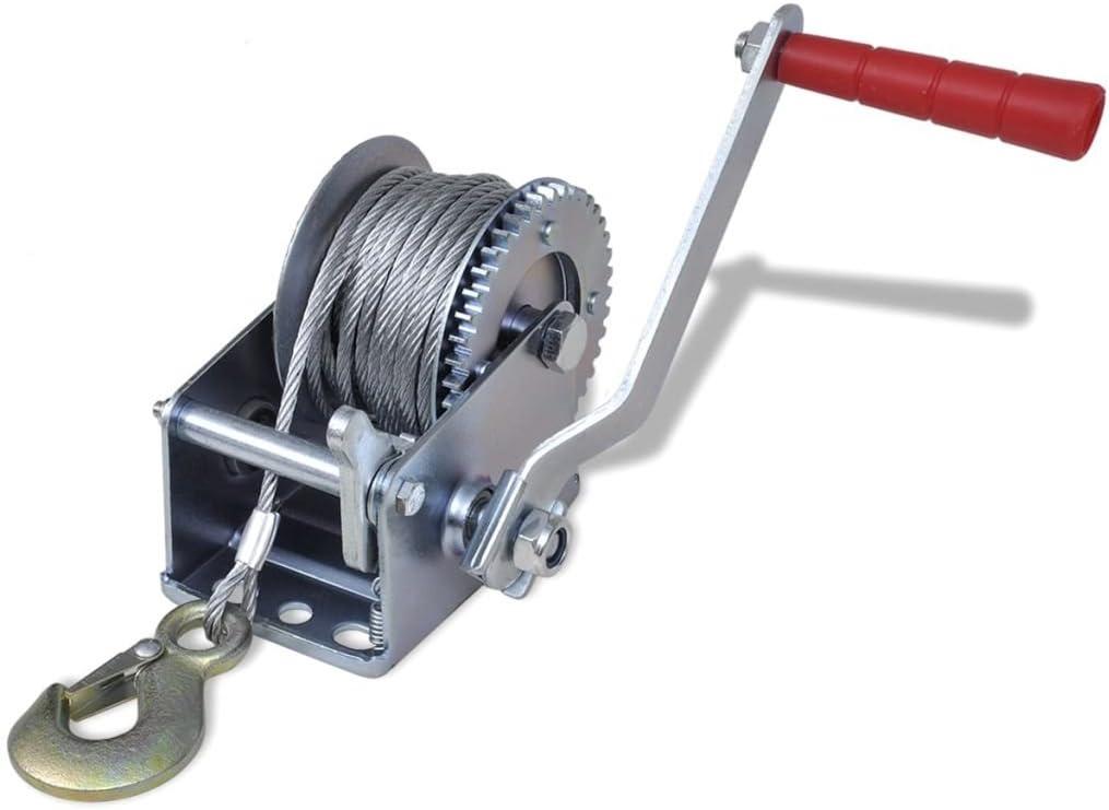 yorten Handwinde 363 kg Seilwinde Hand Winde Bootswinde Anh/änger Handwinde L/änge Seil 10 m 28 x 25 x 12 cm