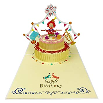 Pop Up Birthday Greeting Cards3D Cake Cards Handmade Party