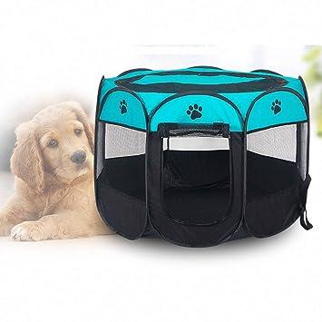 Tienda Plegable Portátil para Mascotas, Valla Octogonal Fácil De Usar, Soporte para Bolígrafos Deportivo para Perros/Gatos En Interiores Y Exteriores: ...