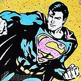 MR.BABES - ''Superman'' - Original Pop Art Painting - Comic Book Portrait