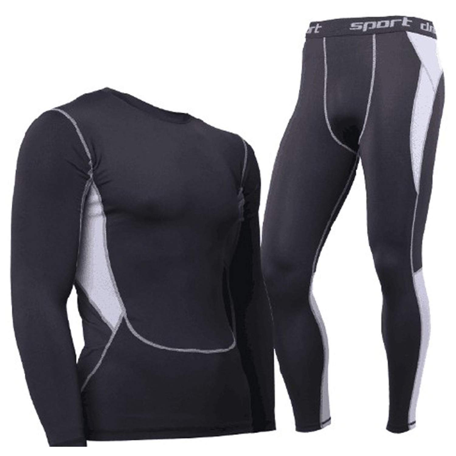Hot-Dry Thermal Underwear Sets Men Winter Compression Thermo Underwear Mens Long Johns Suit at Amazon Mens Clothing store:
