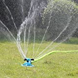 : Kadaon Lawn Sprinkler Automatic Garden Water Sprinklers Lawn Irrigation System 3600 Square Feet Coverage Rotation 360°
