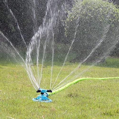 Kadaon Lawn Sprinkler Automatic Garden Water Sprinklers Lawn Irrigation System 3600 Square Feet Coverage Rotation...