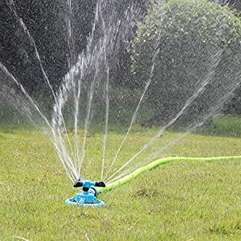 Attrayant Kadaon Lawn Sprinkler Automatic Garden Water Sprinklers Lawn Irrigation  System 3600 Square Feet Coverage Rotation 360°