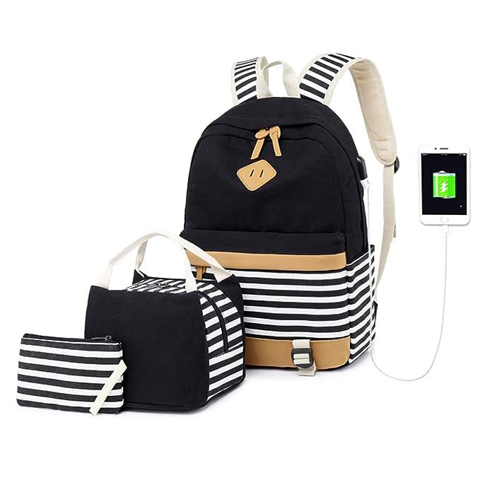 Amazon.com | Girls School Backpack Women Canvas Casual Bookbag 15.6