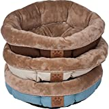 Precision Pet SnooZZy Rustic Elegance Round Shearling Bed Buff