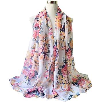1a77e14b4d1 Dabixx Femmes Coton Linge Impression Foulards en Soie Foulard Châle en Soie  Hijab 6