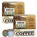 Organic 100% Hawaii Kona Hala Tree Direct Trade Coffee Cups, 36 ct. of Single Serve Capsules for Keurig K-Cup Brewers, Fresh Roasted Coffee LLC.
