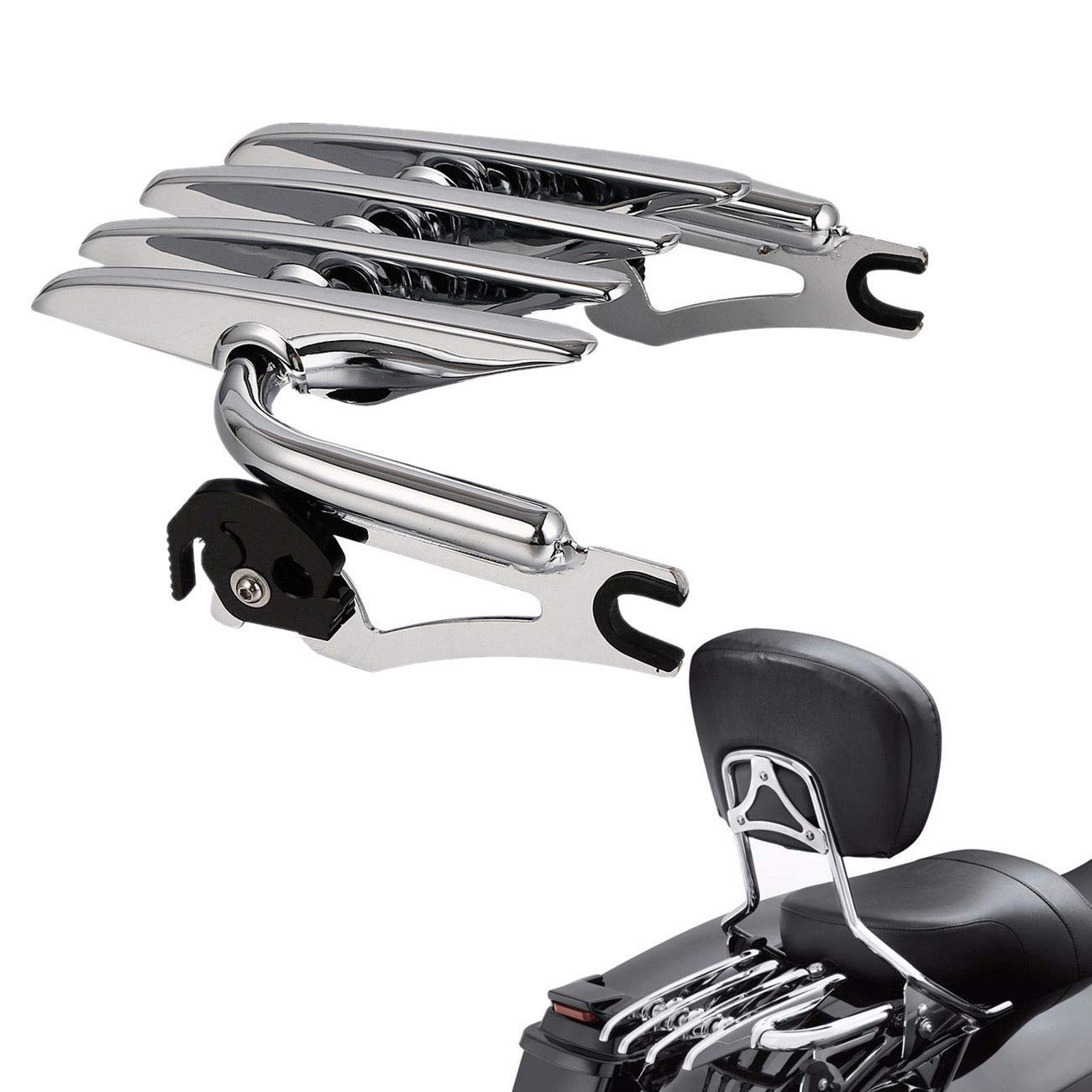 Chrome TCMT Detachable Stealth Luggage Rack 4 Point Docking Hardware Kit Fits For Harley FLHR FLHT FLHX FLTR 2014-2020