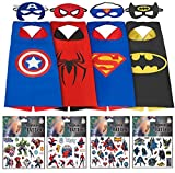 Best Happy Hours Decals In The Worlds - Superhero Costumes For Boys – 4 Capes Review